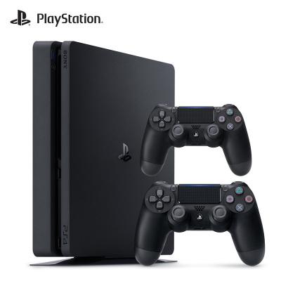 【套餐】索尼(SONY)PS4 slim 500GB 黑色 國行家用游戲機+游戲手柄(黑色)