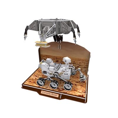 DIE-CAST樂立方3D立體拼圖拼裝仿真模型玩具 太空航空宇航系列兒童拼插拼裝早教科普玩具 好奇號火星車