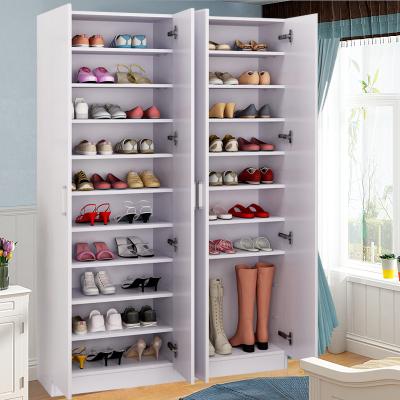 汐巖簡約大容量鞋柜陽臺柜簡易鞋柜組合鞋柜可定做陽臺儲物柜