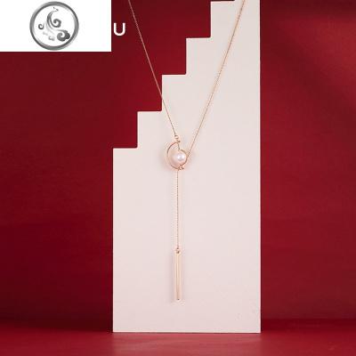 韓國百搭長款毛衣鏈女簡約掛件配飾裝飾配衣服的項鏈潮網紅鎖骨鏈   JiMi其他寶石擺件/掛件/把件