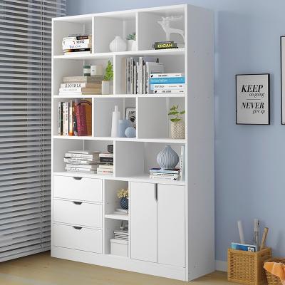 簡易書架落地家用書柜簡約現代客廳置物架省空間組合收納柜經濟型