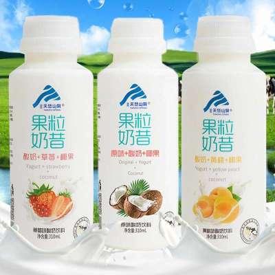 【8月新貨】臻品天竺山泉果粒奶昔早餐酸奶310ml*12瓶營養果汁牛奶飲品多口味可選