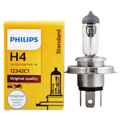 飛利浦(PHILIPS)小太陽石英燈H4-12342汽車燈泡大燈近光燈遠光燈鹵素燈 單支裝