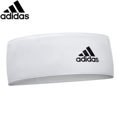 阿迪達斯(adidas)輕薄吸汗頭帶 發帶跑步籃球羽毛球男女運動頭巾健身束發帶 護額止汗護頭箍ADAC-16211WH