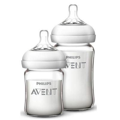 飞利浦 AVENT 新安怡 母婴幼儿童宽口径自然顺畅玻璃奶瓶N生儿套装(新) SCF679/53