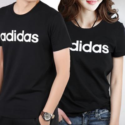 Adidas/阿迪達斯 短袖男裝女裝 情侶款 圓領訓練休閑服運動服短袖T恤FP7393 FP7868