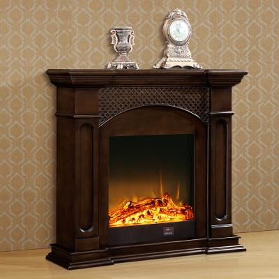 苏宁放心购1.2米欧式壁炉美式壁炉架实木壁炉柜简约仿古深色壁炉装饰电子装饰壁炉柜仿真火焰家用简约新款