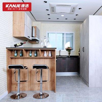 康洁厨柜 整体厨房定制 开放式厨房 多功能定制收纳 简约风格时光幻影预付金