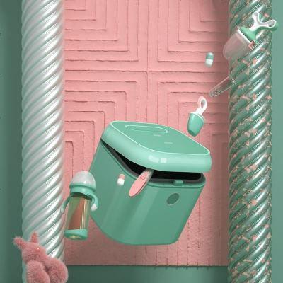 babycare紫外線奶瓶消毒柜 消毒器帶烘干 多功能嬰兒奶瓶不銹鋼消毒鍋柜 綠色
