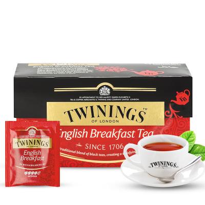 英国川宁(TWININGS) 波兰进口茶叶袋泡茶包 早餐经典红茶25包*2g