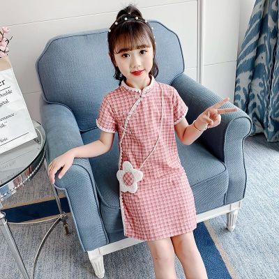 女童夏裝漢服裙子童裝旗袍女孩公主裙洋氣2020新款兒童連衣裙夏季臻依緣