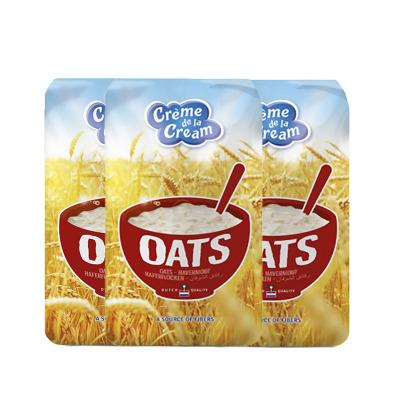 【3袋】荷蘭creme de la cream克德拉克純燕麥片500g/袋裝即食營養早餐 全麥代餐2021年4月到期