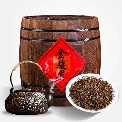 濃香型金駿眉紅茶武夷山桐木關金俊眉茶葉散裝500g蜜香木桶禮盒裝