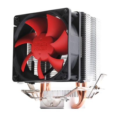 超頻三(PCCOOLER)紅海mini CPU散熱器 (cpu風扇8cm/配散熱硅脂) 紅海MINI靜音版 風冷 散熱器