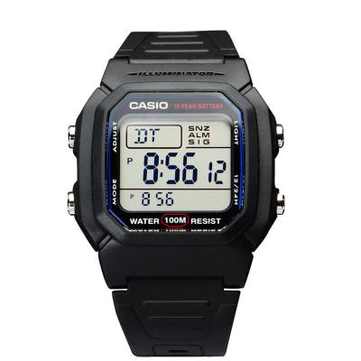 卡西歐CASIO手表Regular普通系列黑色戶外運動休閑數字W-800H-1A W-96H電子表 男士100m防水