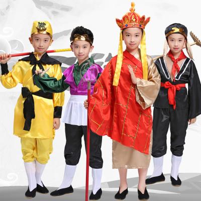 圣誕節西游記師徒四人服裝全套兒童唐僧表演服孫悟空豬八戒沙僧表演出服
