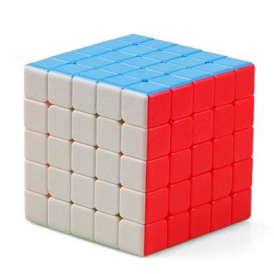 圣手7205A寶石五階魔方 專業比賽專用5階GEM 兒童益智玩具順滑減壓魔方不褪色 彩色