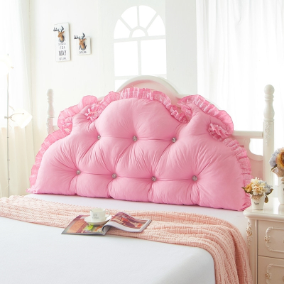 床头靠垫大靠背田园公主床头可拆洗磨毛床上双人长靠枕含芯 浪漫花语 1.8米可拆洗