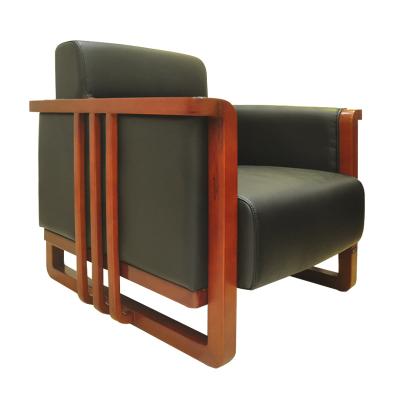 鴻業盛大FSJN-6609辦公沙發辦公室洽談區接待會議皮藝沙發 進口牛皮單人位沙發