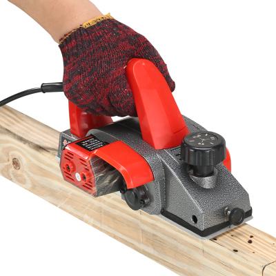 電刨多功能家用工具小型手提臺式木工刨木工安捷順電動刨子壓刨刀機 簡易款塑體(紙盒包裝)出廠配置