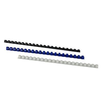 優瑪仕22mm裝訂膠圈A4辦公膠圈夾條裝訂機耗材配件白色