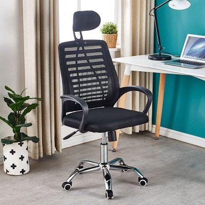家時光高背舒適網布轉椅電腦椅家用辦公椅子職員會議椅宿舍學生椅子帶頭枕