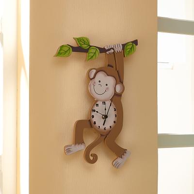 Teamson 纷朵奇宝宝挂壁时钟客厅挂钟实木钟表