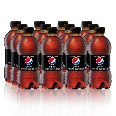 百事可樂 無糖碳酸飲料 可樂型汽水 300mlx12瓶 百事無糖可樂 整箱裝 自營