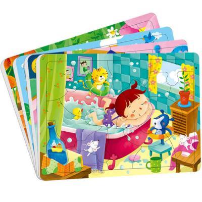 邦臣小红花:动手动脑玩拼图(3-4岁)(套装全4册)