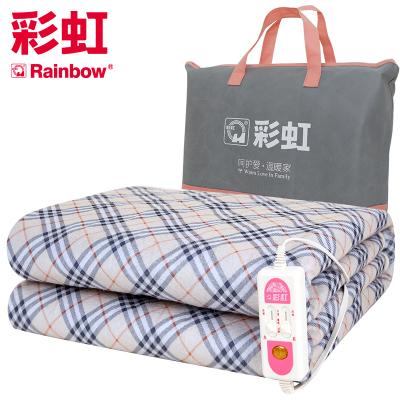 彩虹(RAINBOW)电热毯双人电褥子(1.8*1.5米)加厚双控双温电热褥 安全调温?;さ缛焯?除湿排潮 花色随机