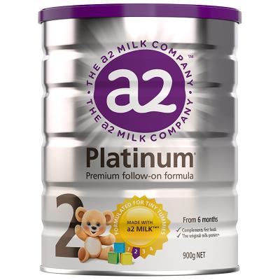 澳洲a2 Platinum 白金版 幼儿配方奶粉2段(6-12个月)900g/罐 新西兰原装进口