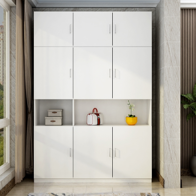 大容量阳台柜储物柜经济型鞋柜杂物柜衣柜飘窗柜防晒家用 两门高200宽100深45