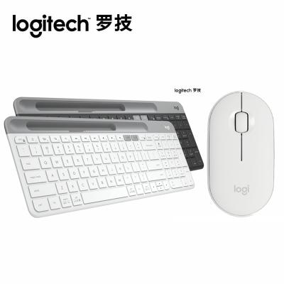 新品【旗艦店】羅技(Logitech)K580無線藍牙鍵盤超薄辦公游戲手機平板電腦鍵盤 K580+PEBLLE鼠標