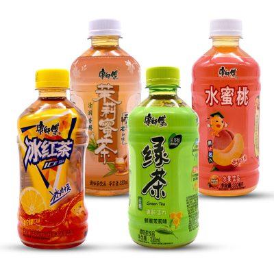 康師傅茶飲料330ml*4瓶混合口味小瓶迷你裝
