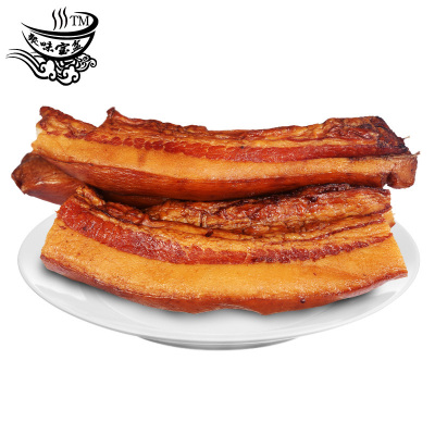 聚味寶盆 湖南臘肉煙熏偏肥臘肉5斤 正宗農家風味煙熏咸肉湘西風味熏臘肉