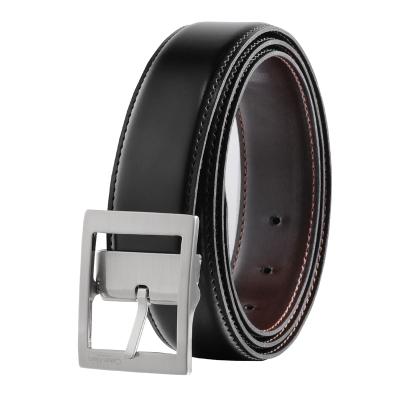 Calvin Klein 卡爾文·克萊恩 男士黑色板扣式黑色系皮帶腰帶