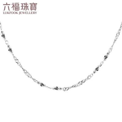 六福珠宝Pt950铂金项链女杨桃水波纹链白金素链计价L10TBPN0002
