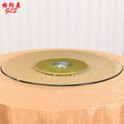 酒店餐桌转盘钢化玻璃圆桌转盘圆形桌面旋转底座饭桌转盘家用
