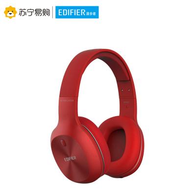 Edifier/漫步者 W800BT 立体声蓝牙无线耳机音乐电脑手机头戴式运动耳机 烈焰红
