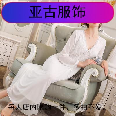 长袖莫代尔睡裙女秋宫廷公主长裙甜美宽松大码长款家居服睡衣