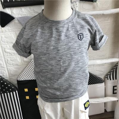 男童T恤薄款速干透气儿童夏季新款休闲短袖圆领运动上衣凉爽