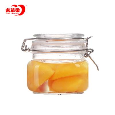 青蘋果美樂廚500ML方形密封罐玻璃儲物罐玻璃瓶蜂蜜瓶酵素瓶奶粉糖果罐泡酒瓶