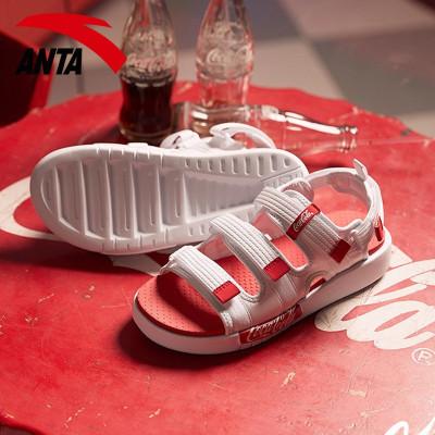 安踏可口可樂聯名款涼鞋男夏季運動沙灘鞋拖鞋魔術貼91926971-7