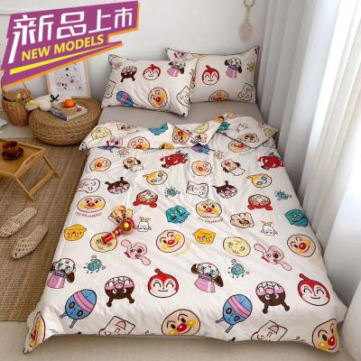 花睡神可愛卡通面包超人全棉空調被夏涼被單雙人純棉兒童薄被子夏可機洗