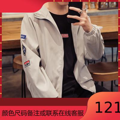 春季男士夾克外套學生寬松工裝外衣運動棒球服春秋褂子潮