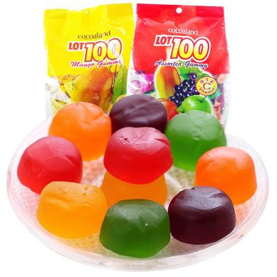 马来西亚进口一百份水果汁软糖(什果味)1000g橡皮糖果零食小吃结婚喜糖