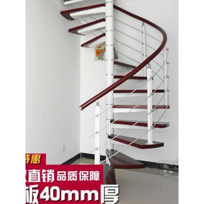 閃電客旋轉樓梯室內閣樓復式閣樓鋼木樓梯家用整體別墅實木loft樓梯定制 套餐三:40mm踏板+普通立柱