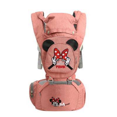 迪士尼DISNEY 嬰兒背帶腰凳3D升級款前抱式四季多功能寶寶單凳抱娃嬰兒用品20KG承重