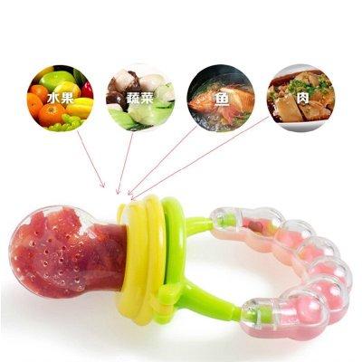 盟寶硅膠果蔬咬咬樂 食物咬咬袋 寶寶營養水果輔食訓練器磨牙棒牙膠