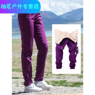 戶外情侶內膽可拆卸沖鋒褲男女加厚保暖防風透氣軟殼褲冬季戶外褲